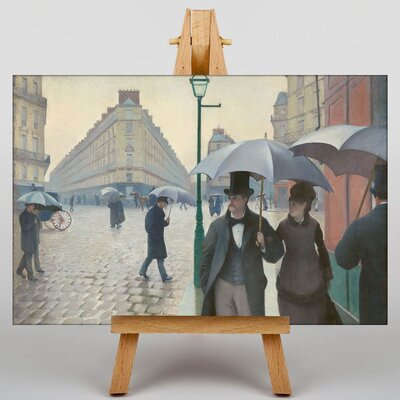 Big Box Art Paris Street on a Rainy Day by Gustave Caillebotte Graphic Art on Canvas