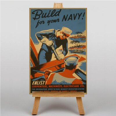 Big Box Art Build For Your Navy No.2 Vintage Advertisement on Canvas