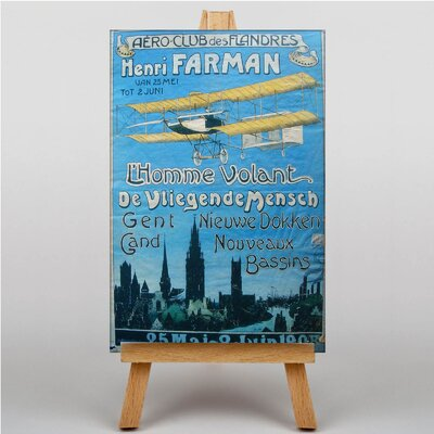 Big Box Art Aero Club Vintage Advertisement on Canvas