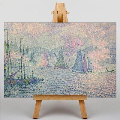 Big Box Art Rotterdam the Meuse by Paul Signac Art Print on Canvas
