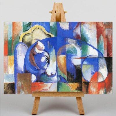 Big Box Art Blue Bull by Franz Marc Art Print on Canvas