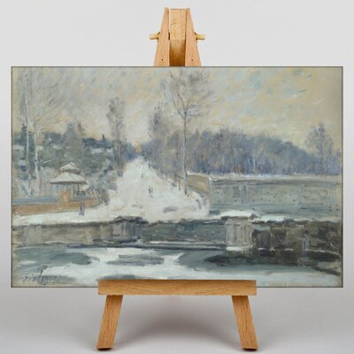 Big Box Art Landscape No.2 by Alfred Sisley Art Print on Canvas