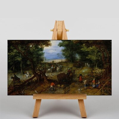 Big Box Art The Elder A Woodland Road with Travellers by Pieter Bruegel Art Print on Canvas
