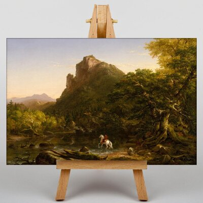 Big Box Art The Mountain Ford by Thomas Cole Art Print on Canvas