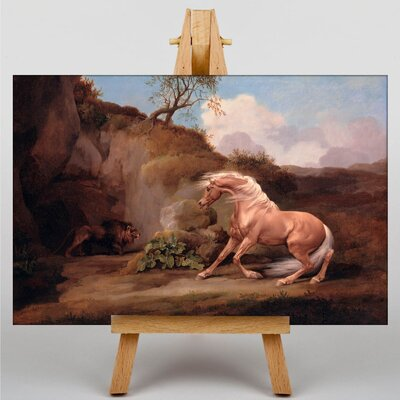 Big Box Art Horse Frightened by a Lion No.2 by George Stubbs Art Print on Canvas