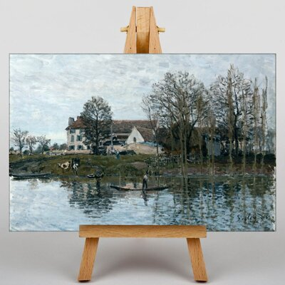 Big Box Art Landscape by Alfred Sisley Art Print on Canvas