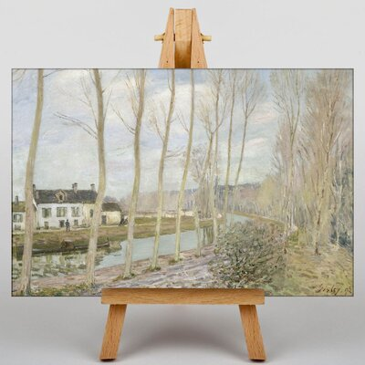 Big Box Art The Loings Canal by Alfred Sisley Art Print on Canvas
