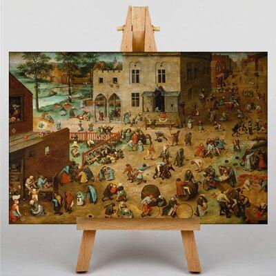 Big Box Art The Elder Childrens Games by Pieter Bruegel Art Print on Canvas