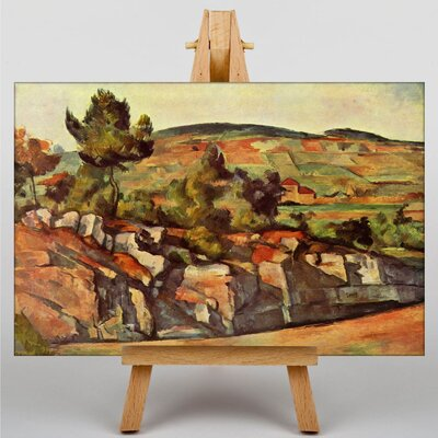 Big Box Art Mountains in Provence by Paul Cezanne Art Print on Canvas