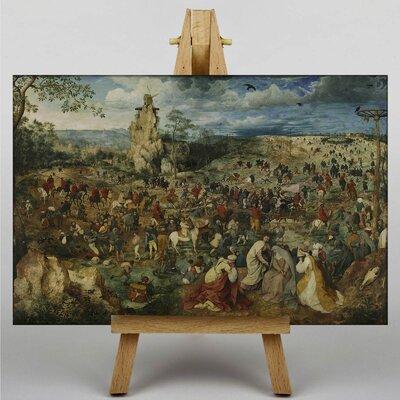 Big Box Art The Elder Christ Carrying The Cross by Pieter Bruegel Art Print on Canvas
