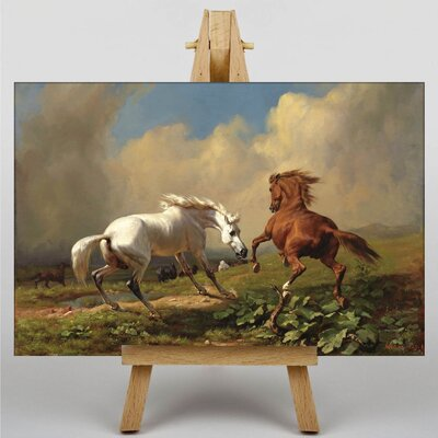 Big Box Art Two Horses by George Stubbs Art Print on Canvas
