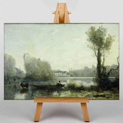 Big Box Art Landscape by Jean-Baptiste Camille Corot Art Print on Canvas