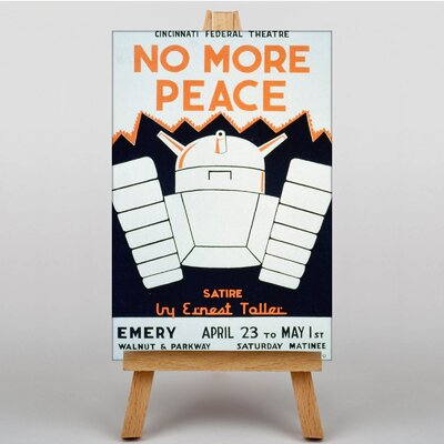 Big Box Art No More Peace Vintage Advertisement on Canvas