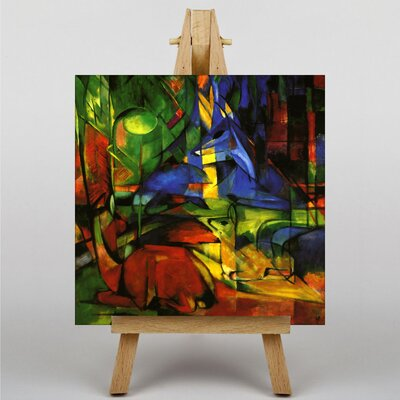 Big Box Art Deer in the Forest No.2 by Franz Marc Art Print on Canvas