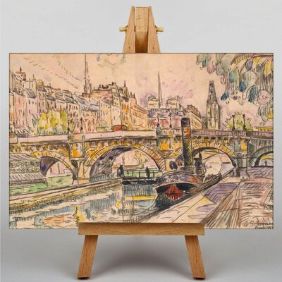 Big Box Art Tugboat at the Pont Neuf Paris by Paul Signac Art Print on Canvas