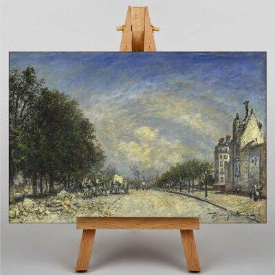 Big Box Art The Boulevard de Port-Royal, Pris by Johan Jongkind Art Print on Canvas
