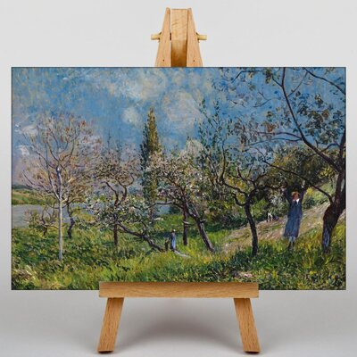 Big Box Art Orchard in Spring by Alfred Sisley Art Print on Canvas