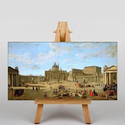 Big Box Art View of St. Peter's Basilica by Gaspar van Wittel Art Print on Canvas