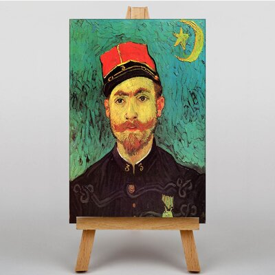 Big Box Art Portrait of Milliet by Vincent Van Gogh Art Print on Canvas