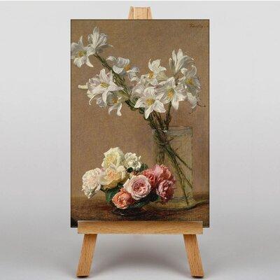 Big Box Art Flowers by Henri Fantin-Latour Art Print on Canvas