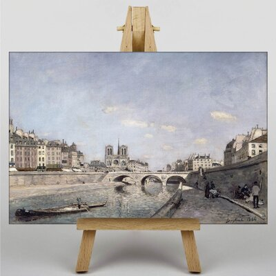 Big Box Art The Seine and Notre Dame in Paris by Johan Jongkind Art Print on Canvas