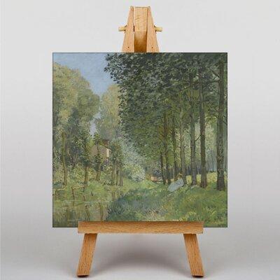 Big Box Art Rest along the Stream by Alfred Sisley Art Print on Canvas