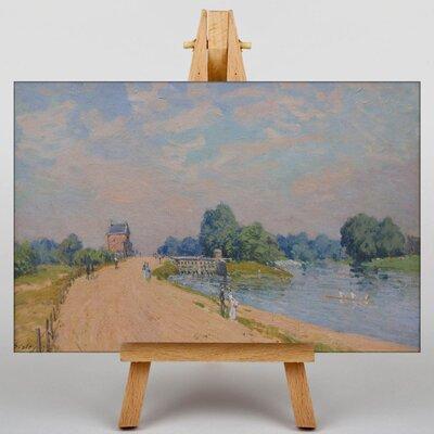 Big Box Art Road to Hampton Court by Alfred Sisley Art Print on Canvas