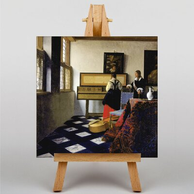 Big Box Art The Music Lesson by Johannes Vermeer Art Print on Canvas
