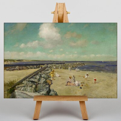 Big Box Art Breakwater Shinnecock by William Merritt Chase Art Print on Canvas