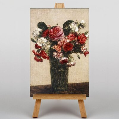 Big Box Art Roses and Asters by Henri Fantin-Latour Art Print on Canvas