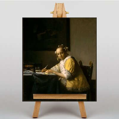 Big Box Art A Lady Writing by Johannes Vermeer Art Print on Canvas