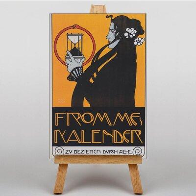Big Box Art Kalender by Koloman Moser Vintage advertisement on Canvas