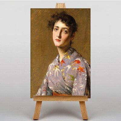 Big Box Art Lady in a Japanese Costume by William Merritt Chase Art Print on Canvas