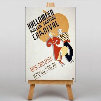 Big Box Art Halloween Roller Skating Vintage Advertisement on Canvas