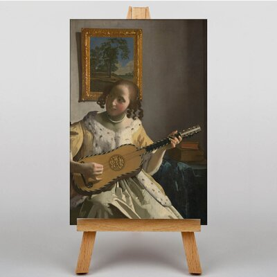 Big Box Art Girl Playing Instrument by Johannes Vermeer Art Print on Canvas