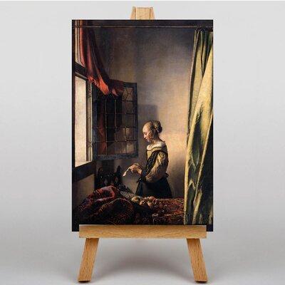 Big Box Art Girl Reading a Letter by Johannes Vermeer Art Print on Canvas