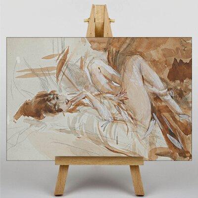 Big Box Art Female Study by Giovanni Boldini Art Print on Canvas