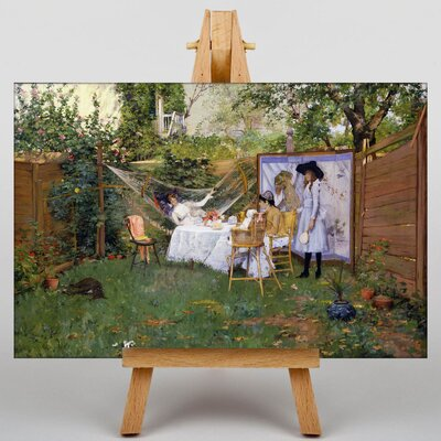 Big Box Art Open Air Breakfast by William Merritt Chase Art Print on Canvas