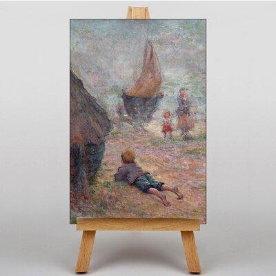 Big Box Art Schuffenecker One the Beach by Claude Emile Art Print on Canvas