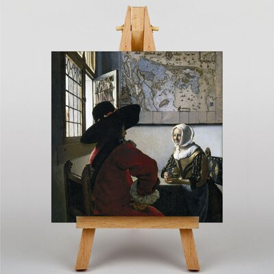 Big Box Art Officer and Laughing Girl by Johannes Vermeer Art Print on Canvas