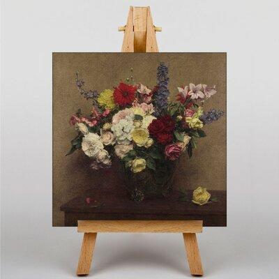 Big Box Art Summer Flowers No.2 by Henri Fantin-Latour Art Print on Canvas