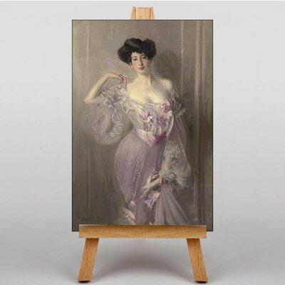 Big Box Art Portrait of Betty Wertheimer by Giovanni Boldini Art Print on Canvas