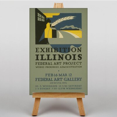 Big Box Art Exhibition No.39 Vintage Advertisement on Canvas
