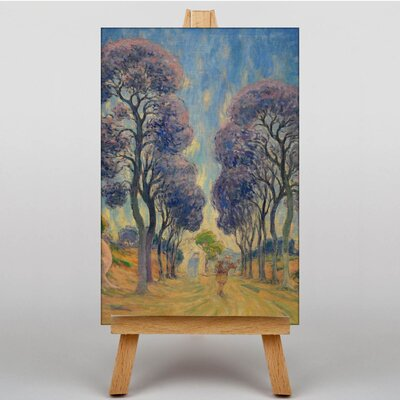 Big Box Art Schuffenecker The Road Under Trees by Claude Emile Art Print on Canvas