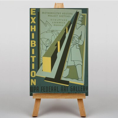 Big Box Art Exhibition No.41 Vintage Advertisement on Canvas