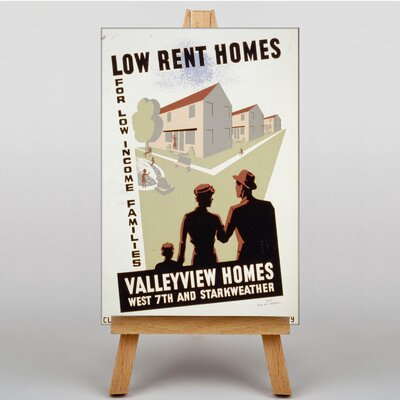 Big Box Art Valleyview Homes Vintage Advertisement on Canvas