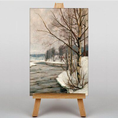Big Box Art Birches in Early Spring by Victor Westerholm Art Print on Canvas