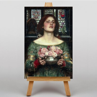 Big Box Art Girl with Flowers by John William Art Print on Canvas