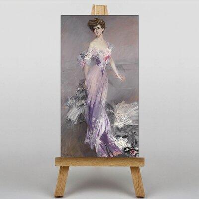 Big Box Art Portrait of Mrs Howard-Johnstone by Giovanni Boldini Art Print on Canvas