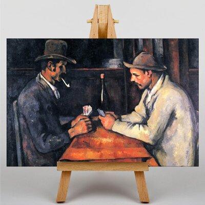 Big Box Art The Card Players No.1 by Paul Cezanne Art Print on Canvas